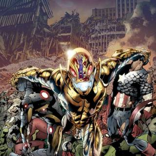 Age of Ultron #1 cover - by Bryan Hitch